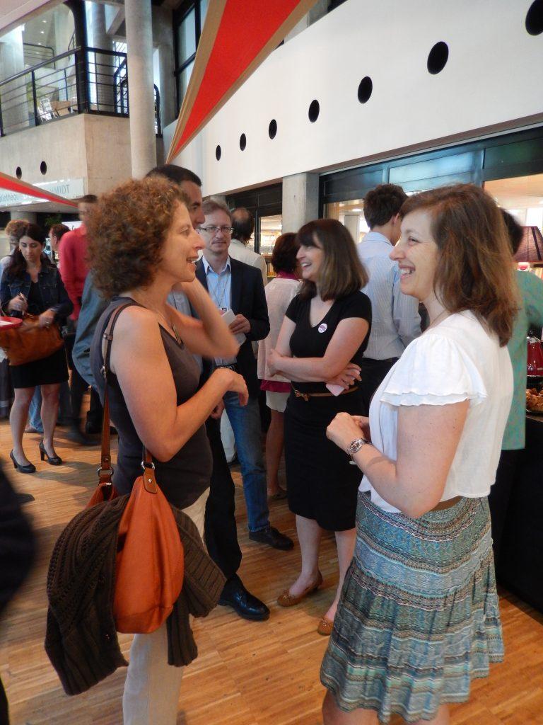 Silvana Angelini (Hewlett Packard) et Claire de Mazancourt (directrice de l'Institut)
