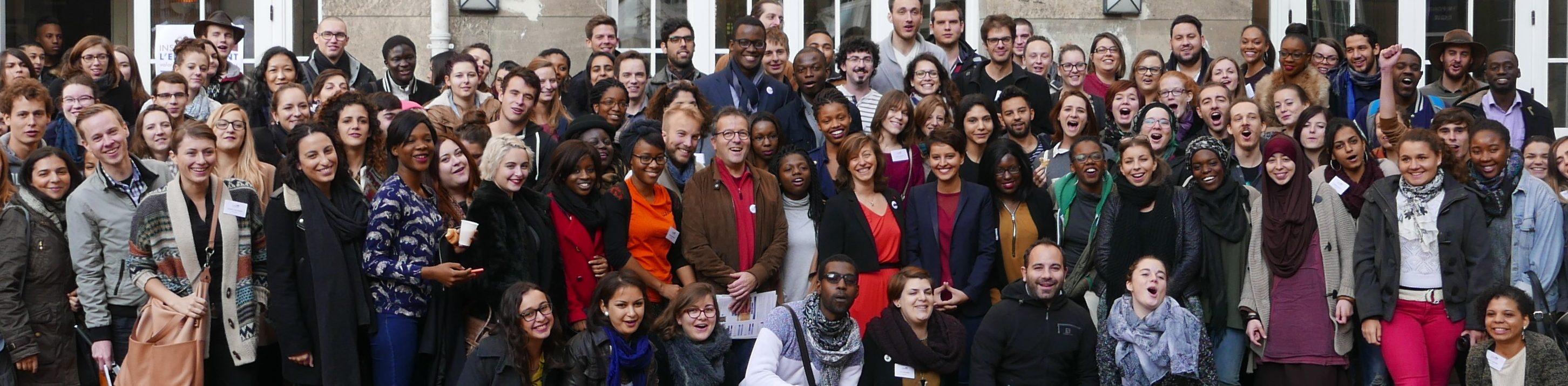 Les laureats devant ESCP Europe