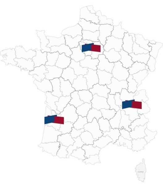 Carte de France Antennes